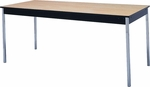 Stationary Series Rectangular Conference Table with Vinyl Flush Edge and Laminate Top - 18''W x 48''D [DLSTAT1848-VFE-MFC]