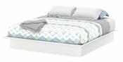 Step One Collection King Platform Bed (78'') with Moldings Pure White