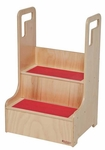 Stable Step-Up-n-Wash Unit with Slip Resistant Strips on Each Step - Assembled - 18''W x 15''D x 28''H [21200-WDD]