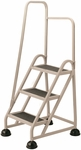 Stop Step 3 Step Ladder with Left Handrail - Beige [1031L-19-FS-CRA]