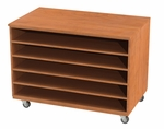 Storage Solution Paper Cabinet with Fixed Shelves with Casters - 36''H x 48''W [SS1000-AC-NSL]