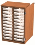 20 Tote Tray Storage Solution with Door - 28''W x 24''D x 46''H [SS2010-NSL]