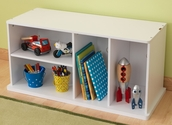 Kids Storage 16.89''H Unit with Shelves - White