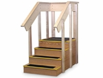 Wooden Straight Staircase with Hand Rails - 30''W X 52''L X 24''H [HAU-1567-FS-HAUS]