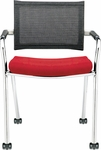 Strata Guest Chair on Casters [ST9460-FS-DV]