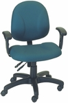 Stratus 24.5'' W x 22'' D x 37.25'' H Adjustable Height and Width Small Back Chair with Deluxe Task Control [E-31722V-FS-EOF]