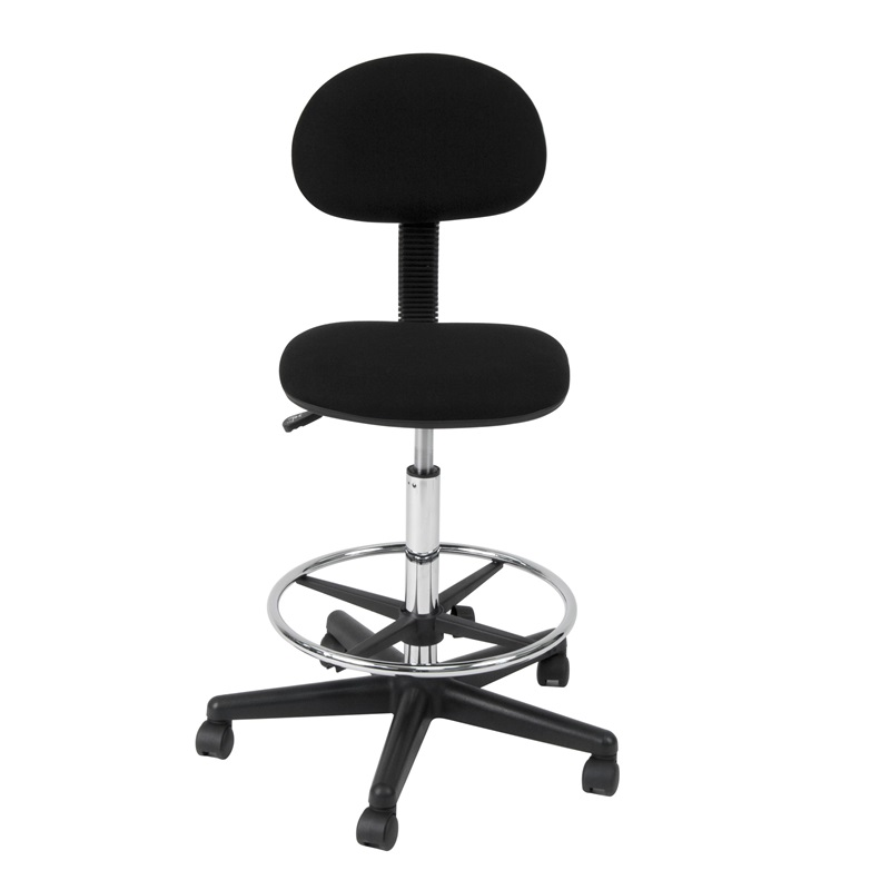 Studio 360 Swivel Armless Drafting Chair With Height Adjustable Chrome Footr