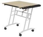Studio Mobile Maple and Steel Craft Center with Adjustable Angle Desk Top - White [13240-FS-SDI]
