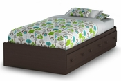 Summer Breeze Collection Twin Mates Bed (39'') Chocolate