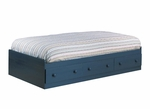 Summer Breeze Collection Twin Size Mates Bed in Blueberry [3294080-FS-SS]