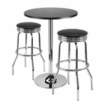 Summit 3-Pc 24''H Bar Table Set with 2 Stools [93362-FS-WWT]