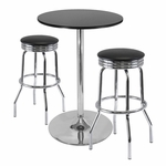 Summit 3-Pc 28''H Pub Table Set with 2 Stools [93380-FS-WWT]