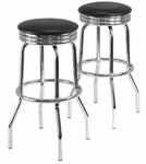 Summit Swivel Bar Stools-Set of 2 [93028-FS-WWT]