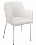 Sunny Arm Chair in White - Set of 2 [17618WHT-FS-ERS]
