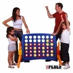 Indoor Outdoor Fade and Weather Resistant Junior Four to Score Game with Built-in Ring Holders [ELR-12509-ECR]