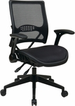 Space Air Grid® Back and Seat Managers Chair with 4 Lever Multi Function - Black [67-77N9G5-FS-OS]