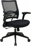 Space Dark Air Grid® Back and Mesh Seat Managers Chair with 2-to-1 Synchro Tilt - Black [67-37N1G5-FS-OS]