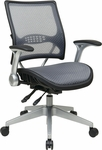 Space Light Air Grid® Back and Seat Managers Chair with 4 Lever Multi Function - Black [67-66N69R5-FS-OS]