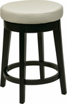 OSP Designs Metro 24'' Round Faux Leather Barstool with Footrest - Cream [MET1924-CM-FS-OS]