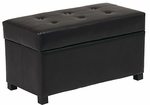 OSP Designs Metro Faux Leather Storage Ottoman - Espresso [MET804-FS-OS]