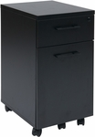 Pro-Line II Prado Mobile File with Hidden Drawer and Locking Casters - Black [PRD3085-BLK-FS-OS]