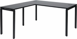 Pro-Line II Prado L-Desk with Laminate Top and Metal Legs - Black [PRD3060-BLK-FS-OS]