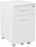 Pro-Line II Prado Mobile File with Hidden Drawer and Locking Casters - White [PRD3085-WH-FS-OS]