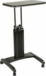 OSP Designs Precision Adjustable Laptop Stand with Casters - Black [PSN625-FS-OS]