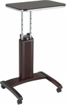 OSP Designs Precision Adjustable Laptop Stand with Casters - Mahogany [PSN623-FS-OS]