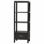 Sutton Black Audio Tower [84025BLK-01-KD-U-FS-LIN]
