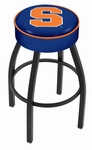 Syracuse University 25'' Black Wrinkle Finish Swivel Backless Counter Height Stool with 4'' Thick Seat [L8B125SYRCSE-FS-HOB]