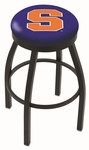 Syracuse University 25'' Black Wrinkle Finish Swivel Backless Counter Height Stool with Accent Ring [L8B2B25SYRCSE-FS-HOB]