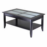 Syrah Coffee Table with Frosted Glass [92140-FS-WWT]