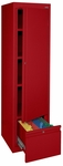 System Series 17'' W x 18'' D x 64'' H Single Door Storage with File Drawer - Red [HADF-171864-01-EEL]