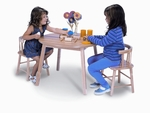 Round Children's Table and Bentwood Back Chair Set [WB0180-FS-WBR]