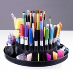 Three Tiered Table Top Carousel for Art Supplies - Black [12164-FS-SDI]