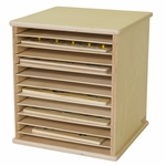 Table Top Puzzle Rack with Removable Shelves and Storage for 12 Puzzles - Assembled - 14.37''W x 14''D x 15.88''H [33200-WDD]