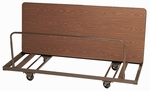 Welded Iron Folding Table Truck for Edge Stacking Rectangular Tables - 28''D x 72''W [T282-01-CRL]