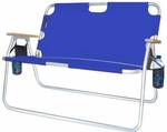 Tailgater Two Person Folding Aluminum Chair - Royal Blue [771725DH-FS-ALG]