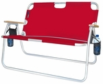Tailgater Two Person Folding Aluminum Chair - Red [771724DH-FS-ALG]
