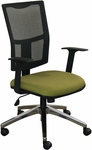 Fermata Task Mesh Chair with Aluminum Base - Fennel Fabric [WMCTKFA-5826-FS-MVL]