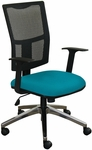 Fermata Task Mesh Chair with Aluminum Base - Teal Fabric [WMCTKFA-F6553-FS-MVL]