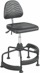 TaskMaster® 17'' H Adjustable Height Deluxe Industrial Drafting Stool with Footrest - Black [5120-FS-SAF]