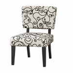 Taylor Accent Chair w/ White and Black Circles [36080BWC-01-KD-U-FS-LIN]