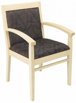 Tea Indoor Office Chair With Cocoa Pattern Fabric Seat And Back Natural Woo