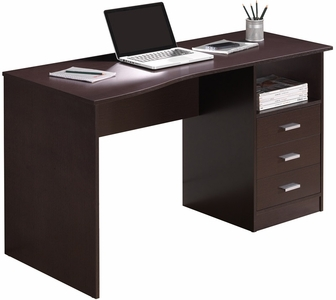 Techni mobili classic computer desk with multiple drawers for Mobili computer