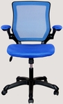 Techni Mobili Mesh Task Chair with Flip-Up Arms - Blue [RTA-8050-BL-FS-RTAP]
