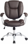 Techni Mobili Plush Task Chair - Chocolate [RTA-0930-CH-FS-RTAP]