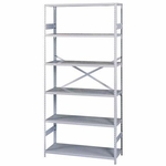 Tennsco Commercial Shelf - 6 Shelves - 18''D [TNNESP61836MGY-FS-SP]