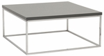 Teresa Square Coffee Table in Gray [09800GRY-FS-ERS]